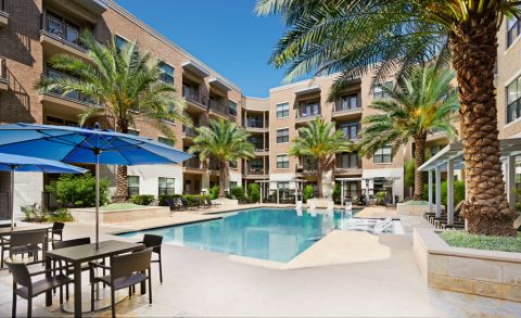 Spacious Pool at Camden Lamar Heights Apartments in Austin, TX