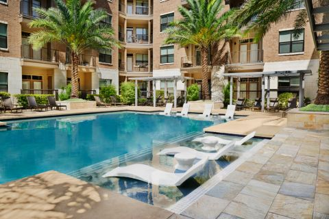 In-water Lounge Chairs at Camden Lamar Heights Apartments in Austin, TX