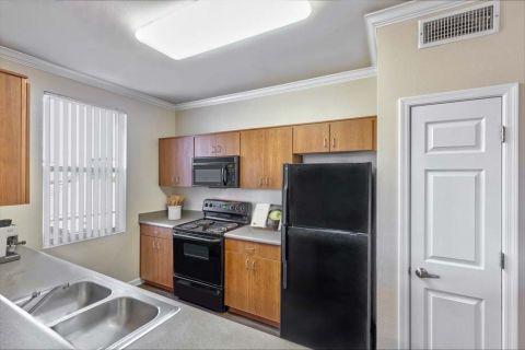 Kitchen with Window at Camden Landmark Apartments in Ontario, CA