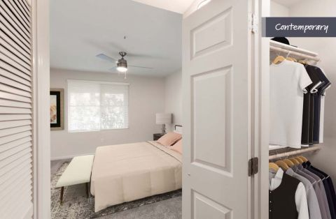 Bedroom with Walk-in Closet at Camden Landmark Apartments in Ontario, CA