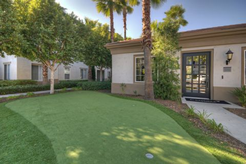 Putting Green at Camden Landmark Apartments in Ontario, CA