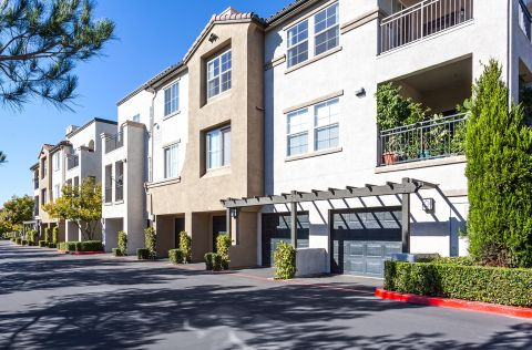 Garages at Camden Landmark Apartments in Ontario, CA