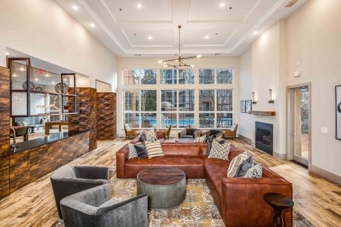 Lobby at Camden Lansdowne Apartments in Lansdowne, VA