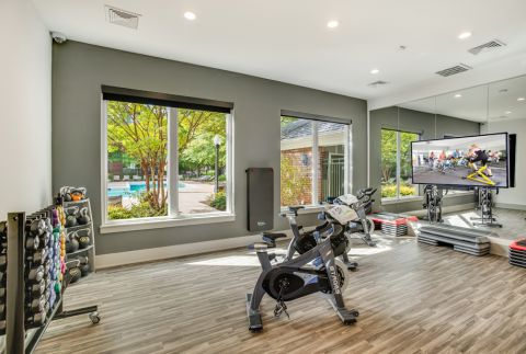 Brand New Spin and Yoga Studio at Camden Lansdowne Apartments in Lansdowne, VA