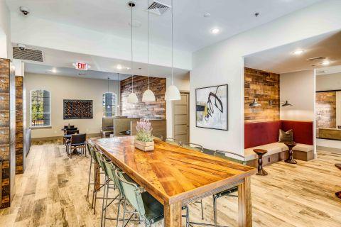 Resident Lounge Kitchen at Camden Lansdowne Apartments in Lansdowne, VA
