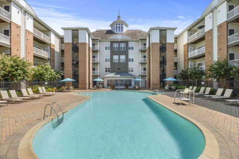 Pool at Camden Largo Town Center Apartments in Largo, MD