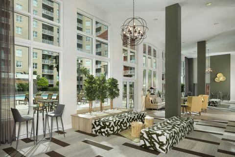 Lobby at Camden Las Olas Apartments in Fort Lauderdale, FL