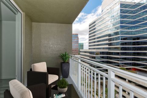 Balcony at Camden Las Olas Apartments in Fort Lauderdale Florida