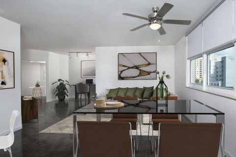 Industrial Chic Home Office Apartment at Camden Las Olas Apartments in Fort Lauderdale Florida