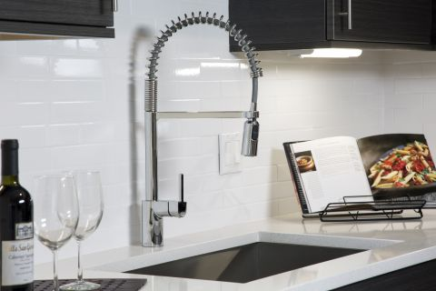 Kitchen Faucet at Camden Las Olas Apartments in Fort Lauderdale, FL