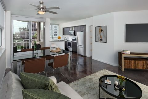 Industrial Chic Apartment at Camden Las Olas Apartments in Fort Lauderdale Florida