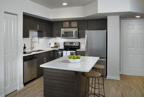 Kitchen at Camden Las Olas Apartments in Fort Lauderdale, FL