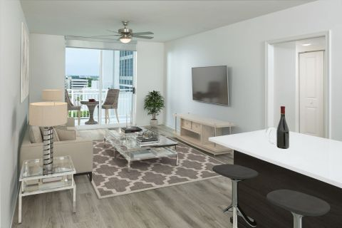 Living Room at Camden Las Olas Apartments in Fort Lauderdale Florida