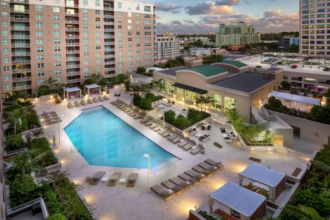 New Pool Deck at Camden Las Olas Apartments in Fort Lauderdale, FL
