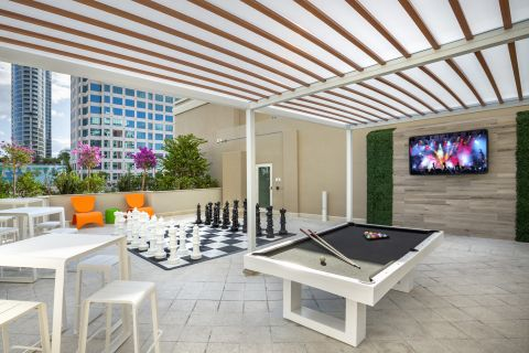 Upper East Pool Deck at Camden Las Olas Apartments in Fort Lauderdale, FL