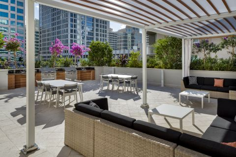Upper West Pool Deck at Camden Las Olas Apartments in Fort Lauderdale, FL