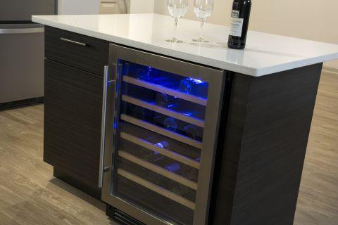 Kitchen Wine Refrigerator at Camden Las Olas Apartments in Fort Lauderdale, FL