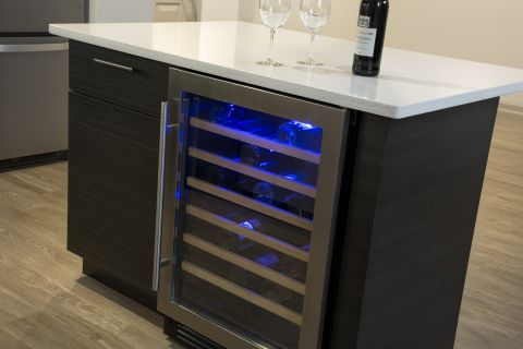 Kitchen Wine Refrigerator at Camden Las Olas Apartments in Fort Lauderdale, FL
