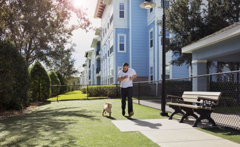 Dog Park at Camden LaVina Apartments in Orlando, FL
