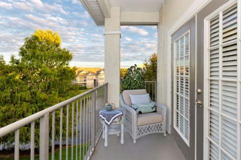 Balcony at Camden Lee Vista Apartments in Orlando, FL