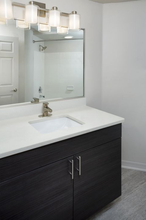 Bathroom at Camden Lee Vista Apartments in Orlando, FL