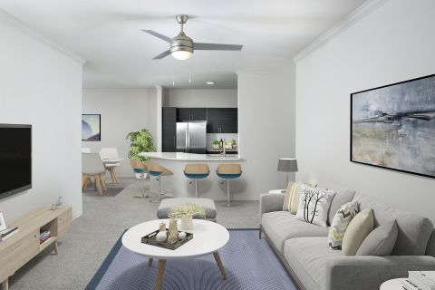 Living Room at Camden Lee Vista Apartments in Orlando, FL