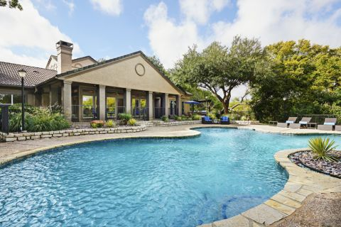 Pool at Camden Legacy Creek Apartments in Plano, TX