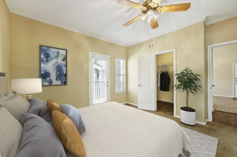 Bedroom at Camden Legacy Creek Apartments in Plano, TX