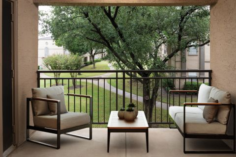 Outdoor Living Space at Camden Legacy Creek Apartments in Plano, TX