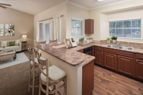 Large kitchen at Camden Legacy Creek Apartments in Plano, TX