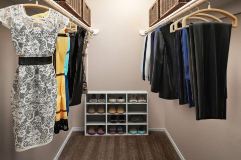 Large closet at Camden Legacy Creek Apartments in Plano, TX