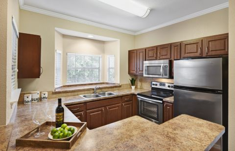 Kitchen at Camden Legacy apartments in Plano, TX
