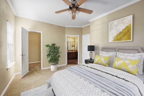 Bedroom at Camden Legacy Creek Apartments in Plano, TX