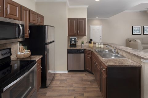 Kitchen at Camden Legacy Park Apartments in Plano, TX