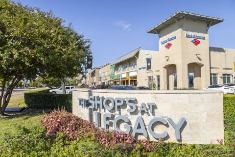 The Shops at Legacy near Camden Legacy Park Apartments in Plano, TX