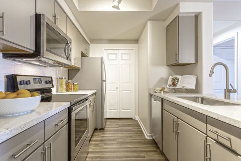 Galley Kitchen at Camden Legacy Apartments in Scottsdale, AZ