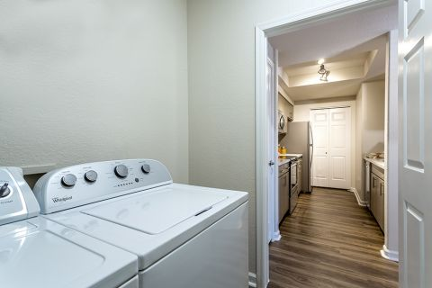 Full-size washer/dryer in every floor plan at Camden Legacy Apartments in Scottsdale, AZ