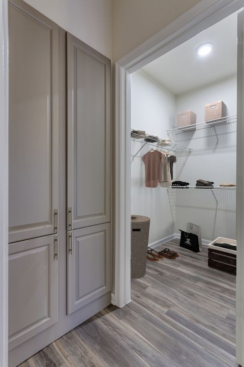 Walk-In Closet in One Bedroom A2 Floor Plan at Camden Legacy Apartments in Scottsdale, AZ