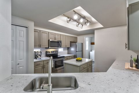 Spacious Kitchen Two Bedroom B4 Floor Plan at Camden Legacy Apartments in Scottsdale, AZ