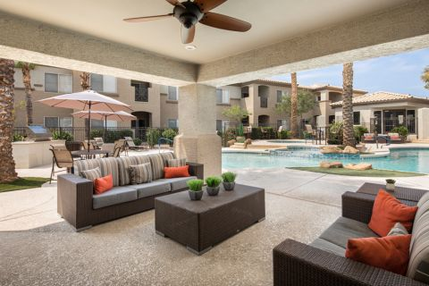 Outdoor Lounge at Camden Legacy Apartments in Scottsdale, AZ