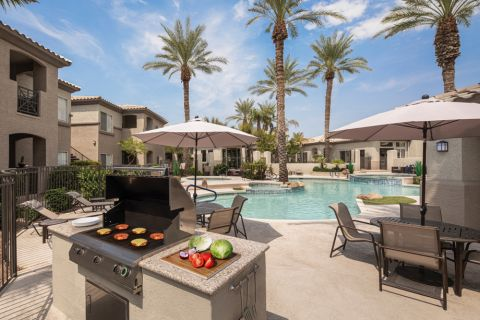 Outdoor Grills at Camden Legacy Apartments in Scottsdale, AZ