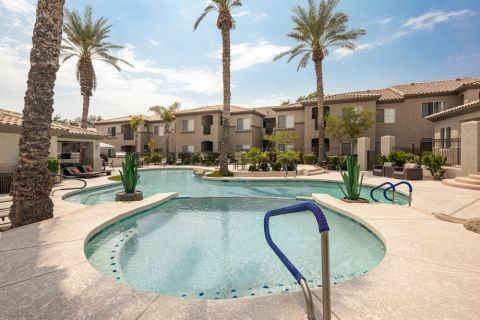 Swimming Pool at Camden Legacy Apartments in Scottsdale, AZ