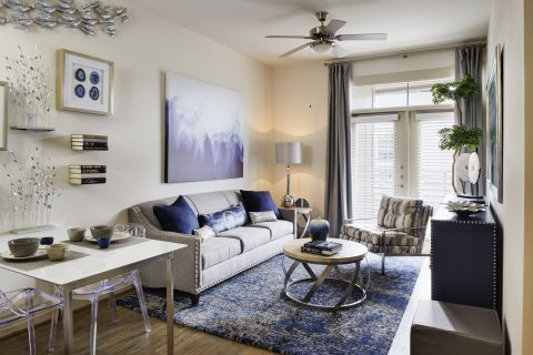 Spacious Living Room at Camden Lincoln Station Apartments in Lone Tree, CO