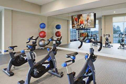 Flex Studio for Spin and Yoga at Camden Lincoln Station Apartments in Lone Tree, CO