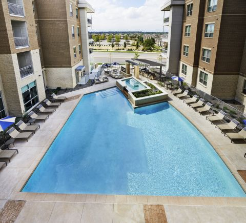 Resort-Style Swimming Pool at Camden Lincoln Station Apartments in Lone Tree, CO