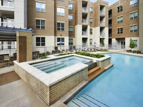 Year-Round Hot Tub with Swimming Pool at Camden Lincoln Station Apartments in Lone Tree, CO