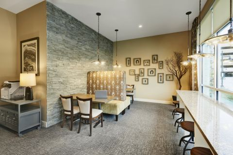 E-Lounge with Printer at Camden Lincoln Station Apartments in Lone Tree, CO