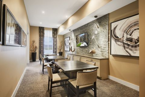 Conference Room in Resident Lounge at at Camden Lincoln Station Apartments in Lone Tree, CO