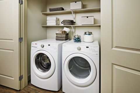 Full-Size Washer and Dryer In-Unit at Camden Lincoln Station Apartments in Lone Tree, CO