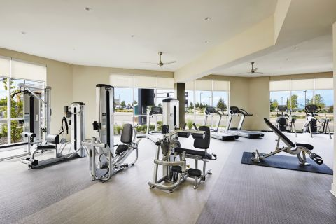 Large Fitness Center at Camden Lincoln Station Apartments in Lone Tree, CO